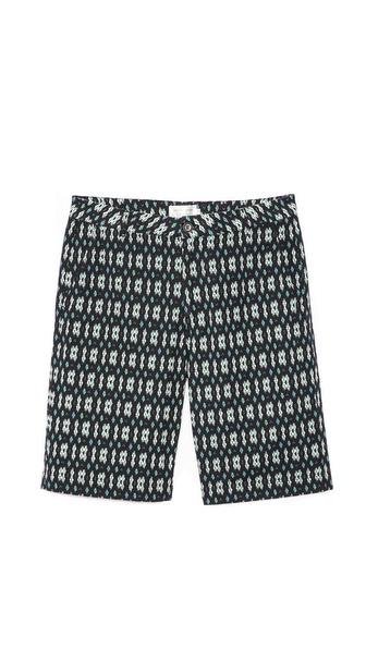 Shades of Grey by Micah Cohen Flat Front Shorts