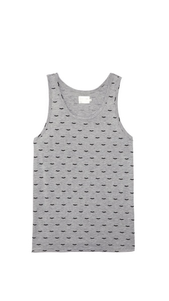 Shades of Grey by Micah Cohen Mustaches Tank Top