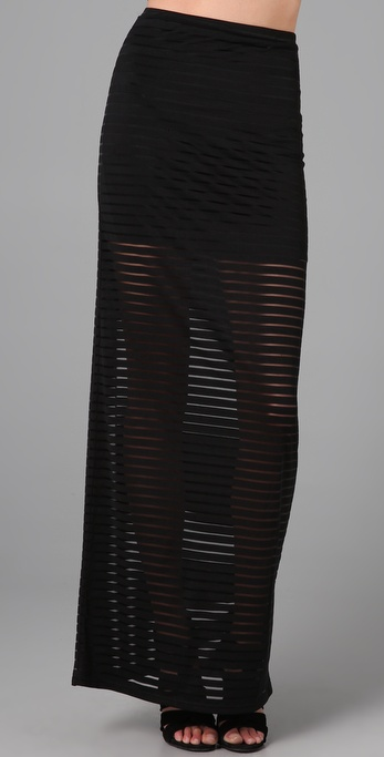 Shakuhachi Stripe Tube Skirt