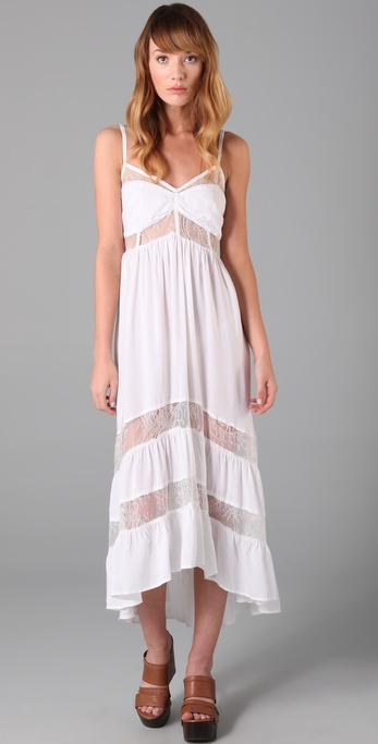 Shakuhachi Lace Tiered Long Dress