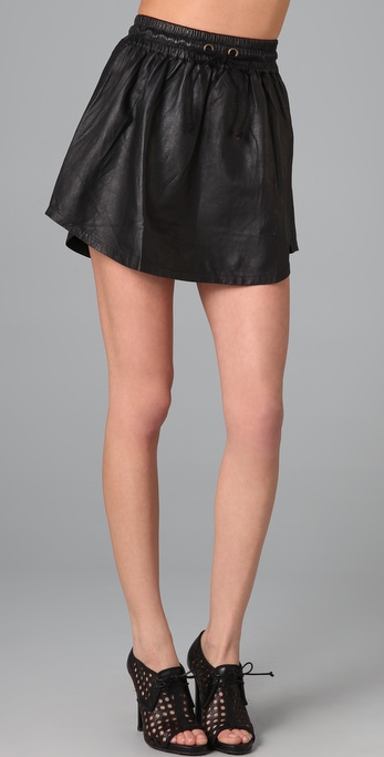 Shakuhachi Leather Sports Skirt