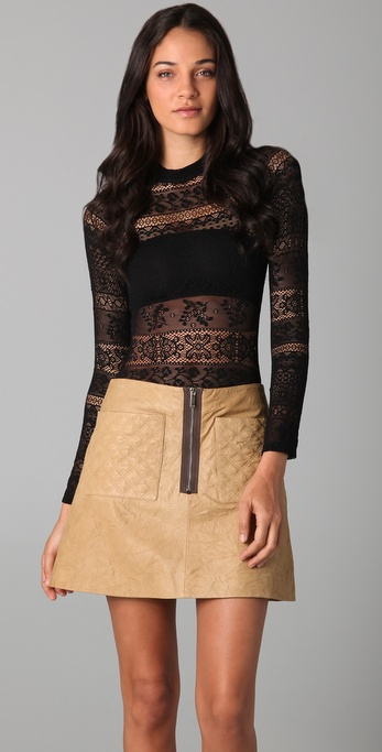 Shakuhachi Stretch Lace Bodysuit