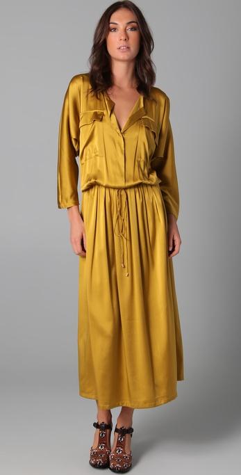 Shakuhachi Luxe Utility Drop Waist Maxi Dress