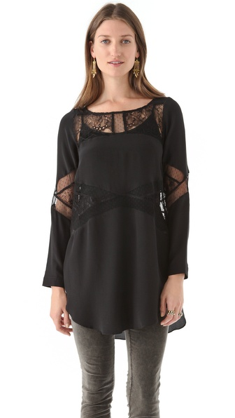 Shakuhachi Lace Panel Tunic