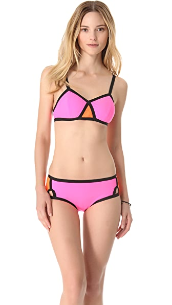Shakuhachi Ultra Neon Colorblock Bikini