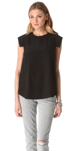 Shop Shakuhachi Structured Shoulder Top - Shakuhachi online - Apparel,Womens,Tops,Blouse, at Lilychic Australian Clothes Online Store