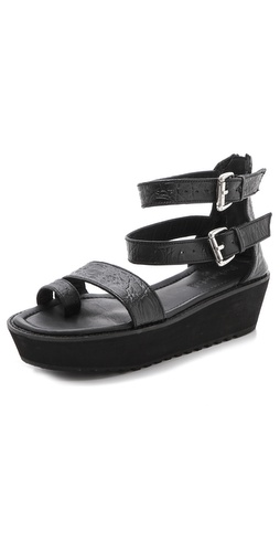 Shakuhachi Mock Croc Platform Sandals at Shopbop.com