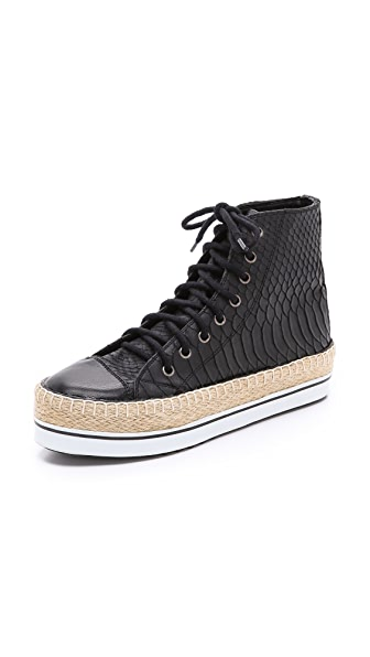 Shakuhachi Python Embossed Sneakers