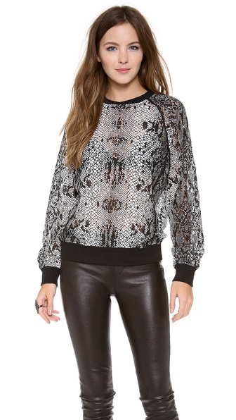 Shakuhachi Serpent Lace Sweater