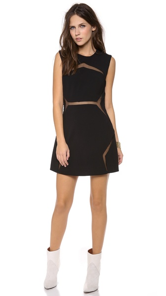 Shakuhachi Floating Panel Fitted Dress