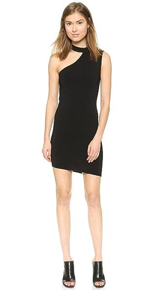 Kupi Shakuhachi haljinu online i raspordaja za kupiti Shakuhachi One Shoulder Knit Dress - Noir online