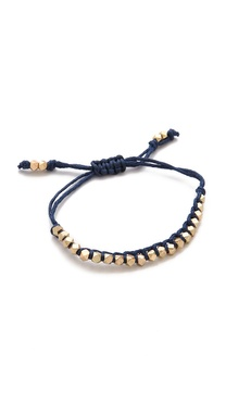 Shashi Single Petit Golden Nugget Adjustable Bracelet