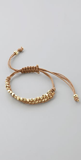 Shashi Double Petit Golden Nugget Adjustable Bracelet