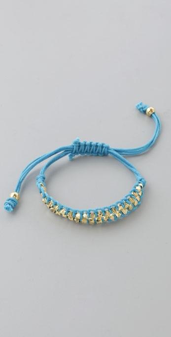 Shashi Double Petit Golden Nugget Adjustable Bracelet