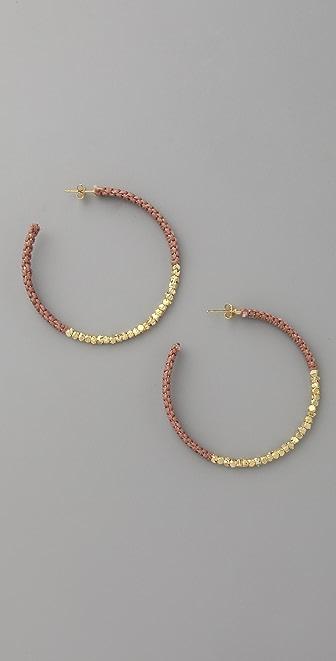Shashi Golden Nugget Hoop Earrings
