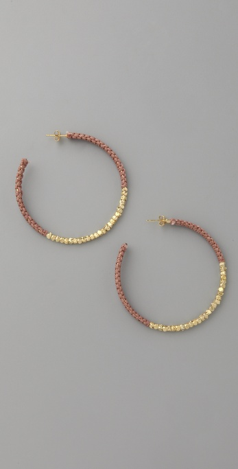Shashi Golden Nugget Hoop Earrings
