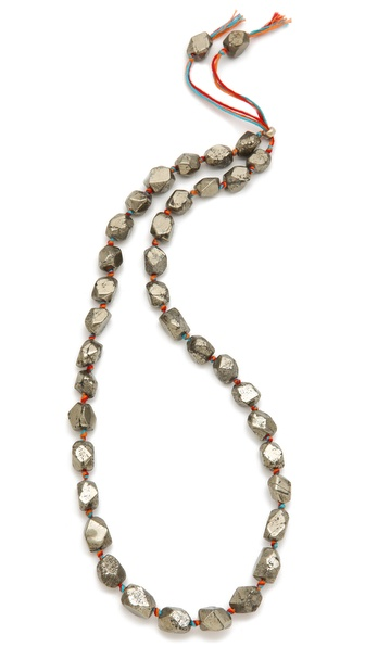 Shashi Rosanna Pyrite Necklace