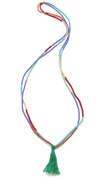 Shashi Carlita Tassel Necklace