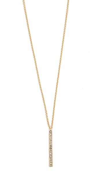 Shashi Tracy Long Bar Necklace