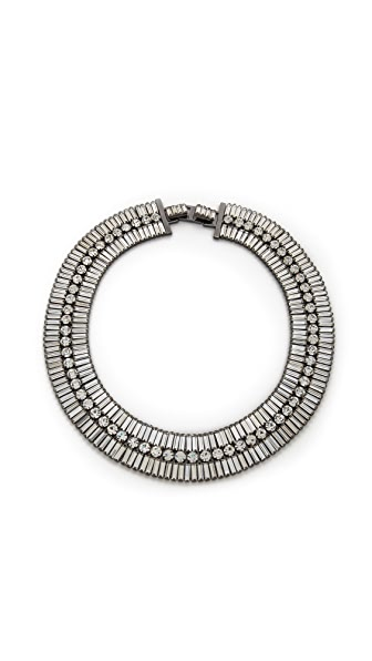 Shay Accessories Bauguette & Circle Crystal Necklace