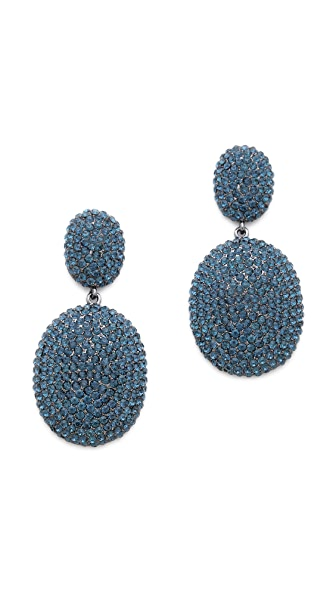 Shay Accessories Pave Oval Earrings