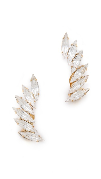 Shay Accessories Crystal Clip On Ear Cuffs