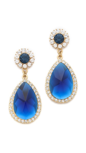 Shay Accessories Teardrop Crystal Border Earrings