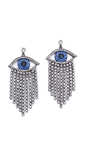 Shay Accessories Crying Eye Earrings - Blue/Clear