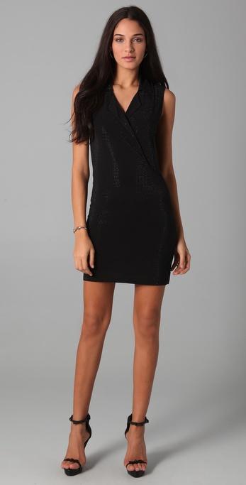 Sheri Bodell Bianca Crystal Tuxedo Dress