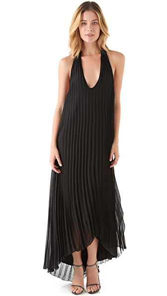 Sheri Bodell Pleated Maxi Dress