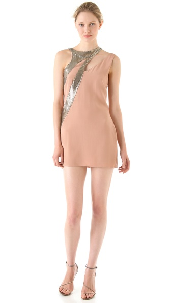 Sheri Bodell Metal Mesh Asymmetrical Dress