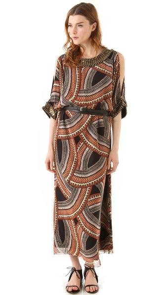 Sheri Bodell Ceremony Print Caftan Maxi Dress