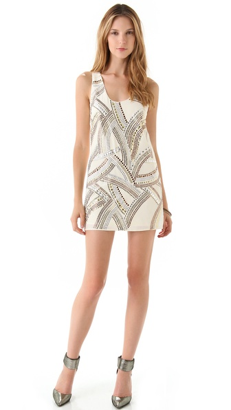 Sheri Bodell Arsenic Studded Racer Back Dress