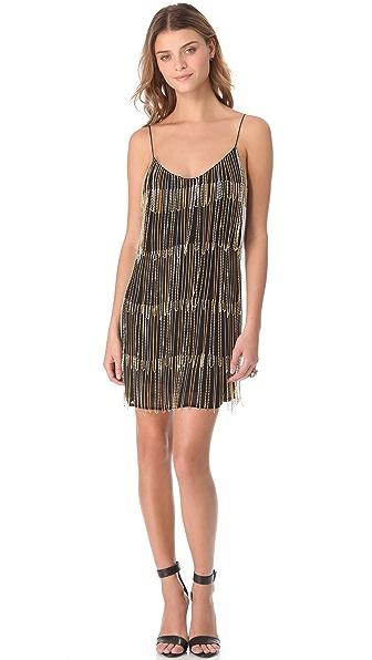 Sheri Bodell Chain Fringe Slip Dress