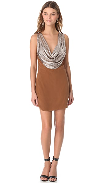 Sheri Bodell Metal Mesh Cowl Neck Dress