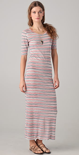 Shine Board Striped Maxi Dress