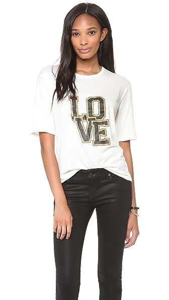 Shine Edie Love University Tee