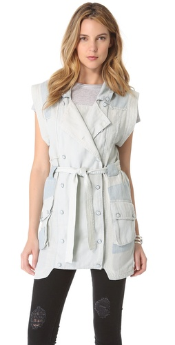 Shona Joy Chambray Patchwork Vest at Shopbop / East Dane