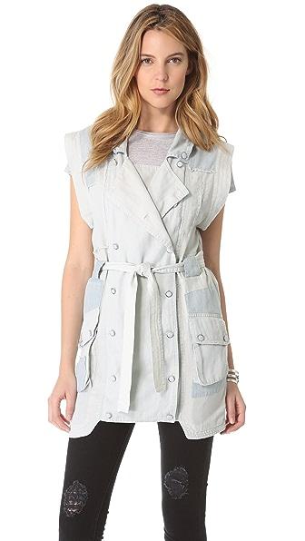 Shona Joy Chambray Patchwork Vest