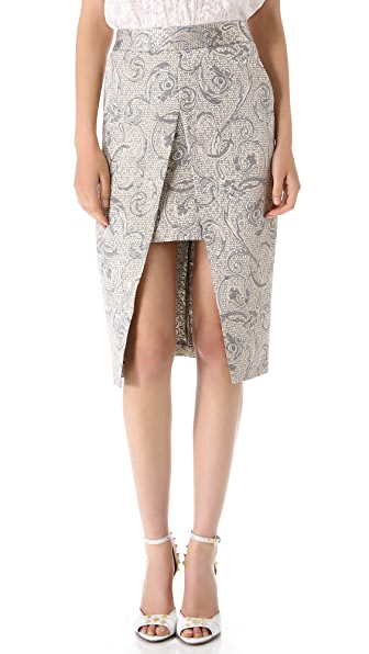 Shona Joy Crystal Shards Pencil Skirt