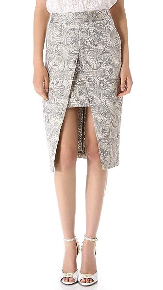 Shona Joy Crystal Shards Pencil Skirt