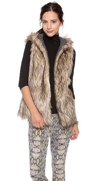 6 Shore Road by Pooja Hopi Reversible Faux Fur Vest