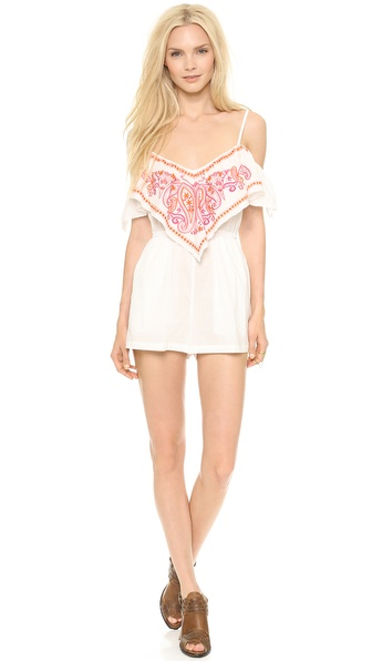 6 Shore Road Embroidered Picnic Romper