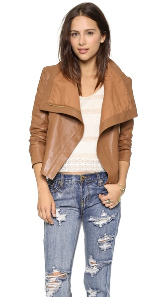 leather women coats and jackets