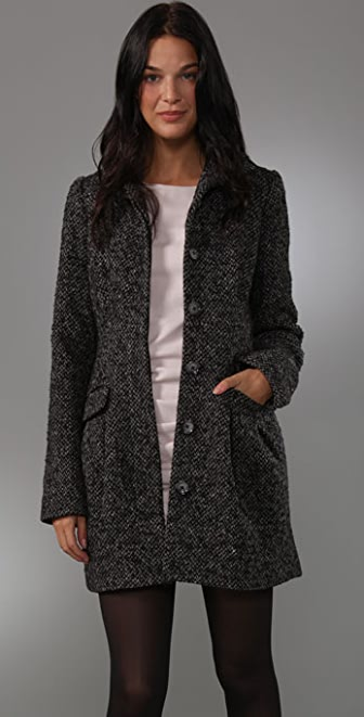 Shoshanna Funnel Neck Coat