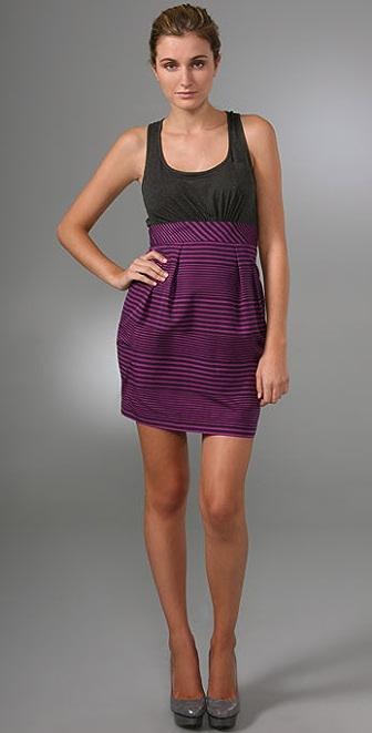 Shoshanna Combo Stripe Sheath Dress