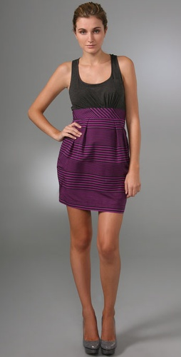 Shoshanna Combo Stripe Sheath Dress