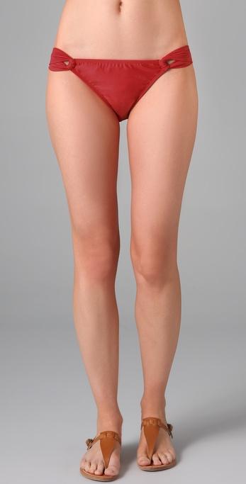 Shoshanna Solid Loop Bikini Bottoms