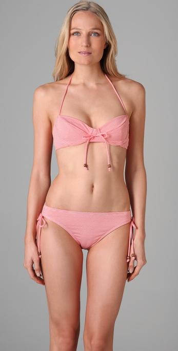 Shoshanna Novelty Stripe Bikini Top