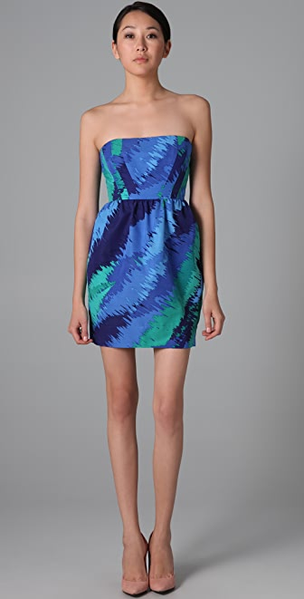Shoshanna Strapless Tulip Dress